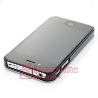 Aluminum Metal Skin Cover with TPU Hard Case Cover for Apple iPhone 4