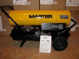 Master 115 000 BTU Kerosene or Diesel Forced Air Heater