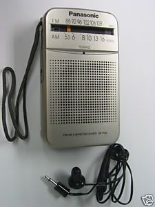 Panasonic RF P50 Pocket Am FM Portable Radio Silver