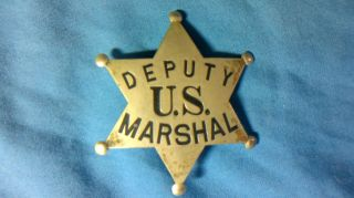 Antique Original Deputy U s Marshal Badge Allen Stamp Seal Co