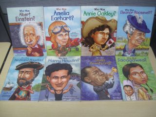 WAS  Childrens History biography Famous People Chapter BOOK LOT