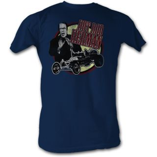 THE MUNSTERS HOT ROD HERMAN ADULT TEE SHIRT S 2XL