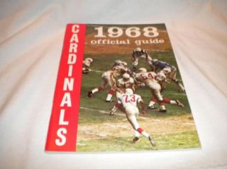 National Football League Media Press Fact Guide Mint 1968 Saint Louis