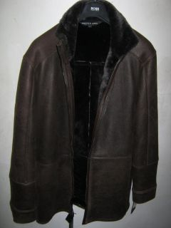 ANDREW MARC LAMB SHEARLING FUR COAT Brand New