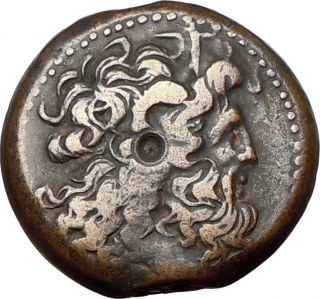 PTOLEMY VI Cyprus 170AD ZEUS AMMON TWO EAGLES