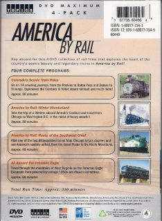 America by Rail Scenic Travel 4 DVD Deluxe Box Gift Set 781735602829