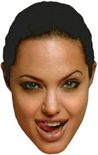Angelina Jolie Sexy Tongue Full Head Shot Window Cling Sticker Decal