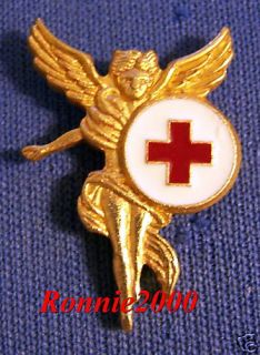 WINGED GOLD ANGEL American Red Cross pin