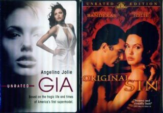 Angelina Jolie GIA Original Sin Sexy Unrated Versions New 2 DVD