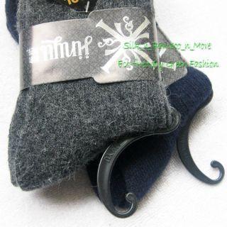 Lot 2 New Angora Wool Blend Thick Warm Ribbed Socks Fit Feet 24 28 US