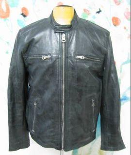 NWOT Andrew Marc Heavy Leather Jacket   Size L