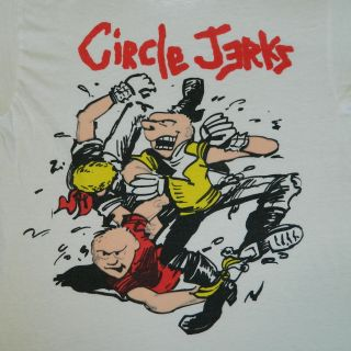 VTG 80S CIRCLE JERKS CONCERT T SHIRT XL ORIGINAL TEE TOUR KEITH MORRIS