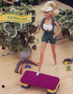 Aerobics Set Outfit for Barbie Doll Crochet Pattern 30 Days to Shop