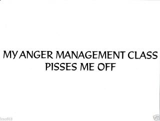 Vinyl Wall Decal Decor Anger Management