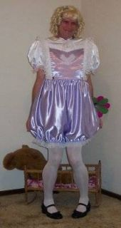 Adult Sissy Baby Dress Sumptuous Satin by Annemarie