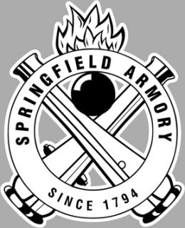 Springfield Armory Crossed Cannons Vinyl Decal Sticker Pistol Firearms