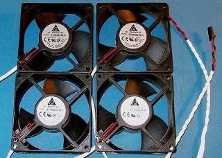 4pc lot 24vdc 80mm brushless fan delta # efb0824eh nos