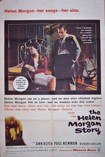 THE HELEN MORGAN STORY (1957) PAUL NEWMAN & ANN BLYTH * ORIGINAL 27X41