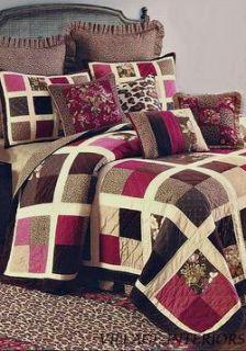 Leopard Animal Print Queen Cotton Dust Ruffle Bed Skirt