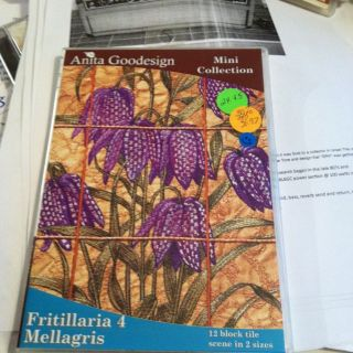 Anita Goodesign Fritillaria 4 Embroidery Software