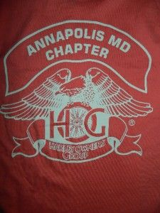 Harley Davidson Owners Group Annapolis MD Chapter Womens T Shirt Size
