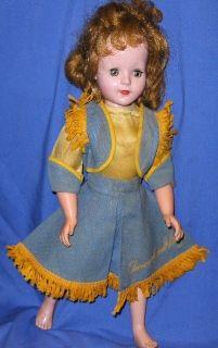 Vintage 1954 19 Annie Oakley Sweet Sue Walker Doll American Character