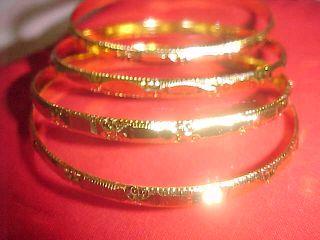 New Gold Exotic Bangle Sari Skirt Suit Dress Ballroom Jewelry Machine