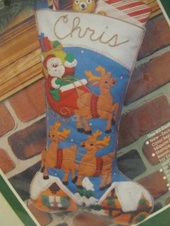 Bucilla Felt Stocking Kit Over the Rooftops Christmas 48973 New
