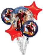 BIRTHDAY PARTY balloon bouquet IRON MAN decorartions supplies marvel