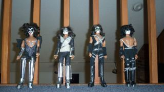 Kiss   original 1977 Mego action figures dolls, Gene, Paul, Ace Peter