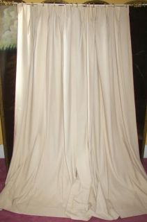 Vintage Paris Apt French Country Victorian Chic Custom Tan Drapes