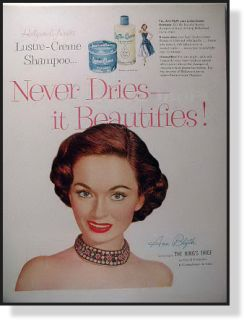 1950 Lustre Ceme Shampoo Vintage Ad Ann Blyth
