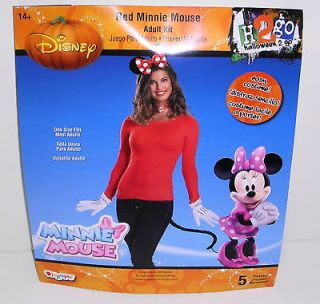Disney Minnie Mouse Red Accessory Kit Ears,Choker,Gloves & Tail Adult
