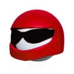 Cool Racer Red Helmet Antenna Ball Topper