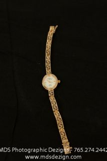 Michael Anthony 14k Gold Ladies Wrist Watch with Mother of Pearl Face