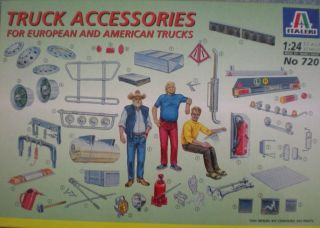 Plastic European and American Truck Accessories Kit Scale 124 #720