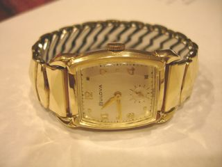 Antique Vintage BULOVA 1954 MENS WATCH Wind up RUNS GREAT   PREOWNED