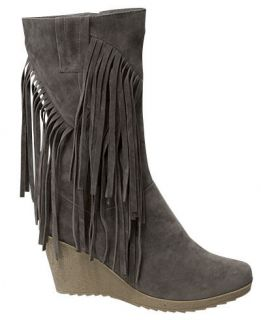 NEW Womens Hot Fashion Stylish Suede Fringe Casual Riding Wedge Boots