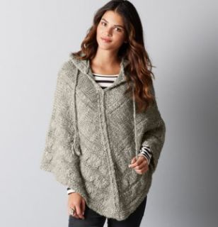 Marlawynne wave knit poncho ann taylor loft hooded cable knit poncho capelet sweater m l nwt dt1010fo