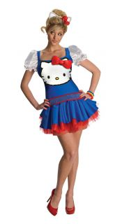 blue hello kitty classic adult costume size xs new