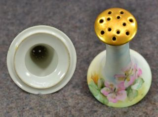 Antique Hat Pin Holder China Porcelain Hand Painted Gold