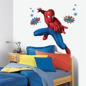 Spiderman Giant Wall Mural Decals Marvel Blue Spiders Room Decor Vinyl