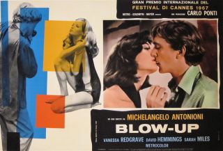 Blow Up 1967 Italian 18x26 Film Poster L B Antonioni