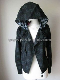 abbey dawn black skull with button hoodie 12 more options