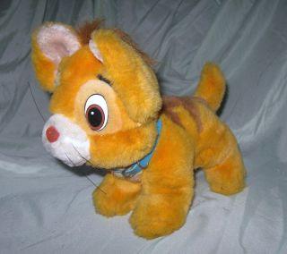 Disney Oliver and Company Cute Oliver Plush Orange Kitten Cat EUC 1988