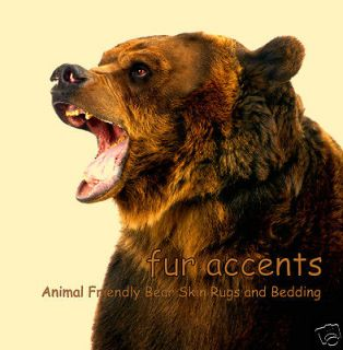 Newly listed Realistic Faux Fur Bear Skin Accent Rug Plush Brown Pelt