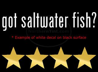 got saltwater fish vinyl wall art car decal sticker more