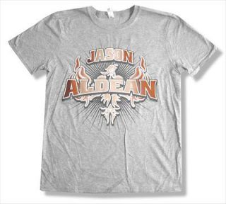 JASON ALDEAN   2011 EVENT LITTLE ROCK AR GREY T SHIRT   NEW ADULT 2XL