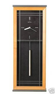 Bulova Quartz Solid Wood Wall Clock Antrim New C4322