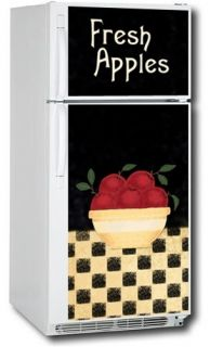 Appliance Art Apple Magnetic Refrigerator Cover Top and Bottom